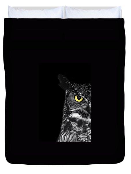 Great Horned Owl Photo Duvet Cover