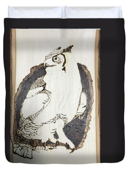 Great Horned Owl Duvet Cover by Terry Frederick