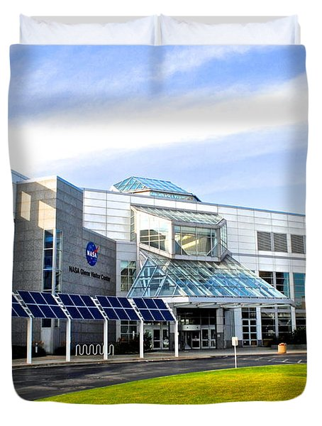 Great Lakes Science Center Duvet Cover by Frozen in Time Fine Art Photography