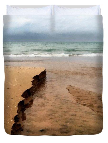 Great Lakes Shoreline Duvet Cover
