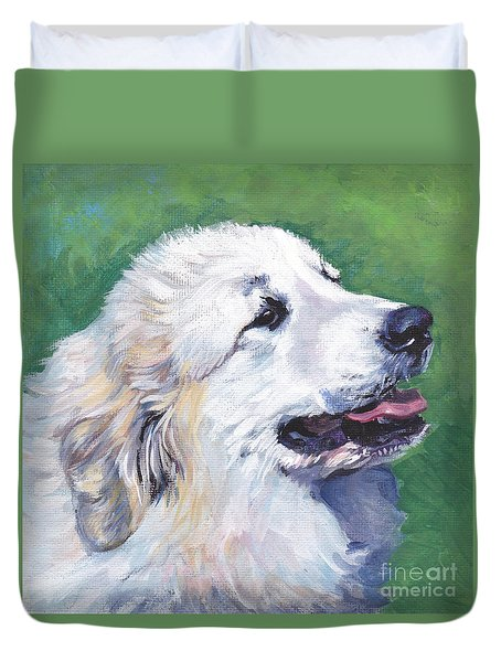 Great Pyrenees  Duvet Cover by Lee Ann Shepard