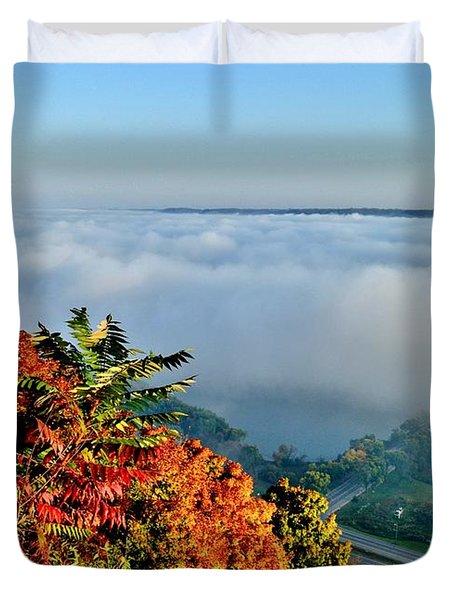 Great River Road Fog Duvet Cover