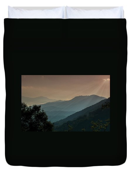 Great Smoky Mountains Blue Ridge Parkway Duvet Cover by Patti Deters