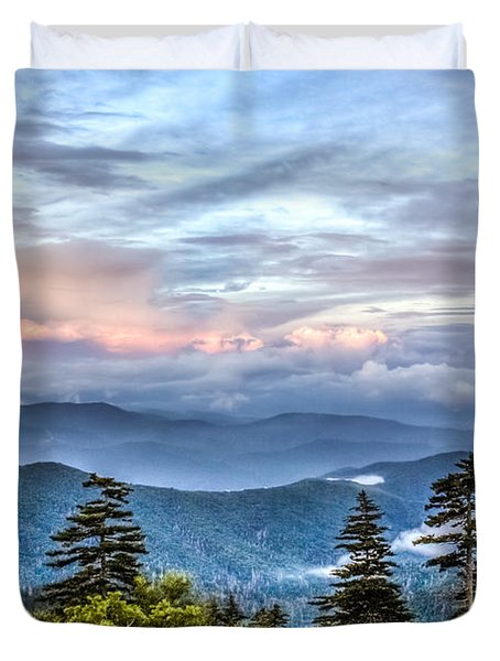 Great Smoky Mountains Duvet Cover