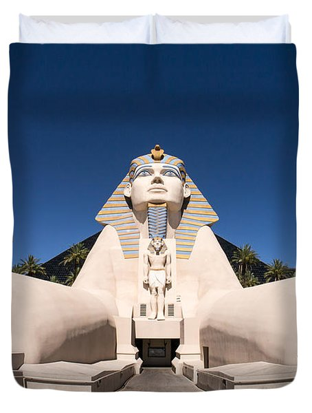 Great Sphinx Of Giza Luxor Resort Las Vegas Duvet Cover by Edward Fielding