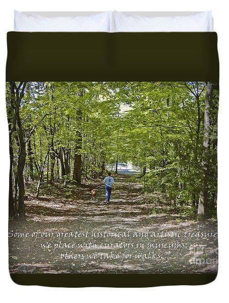 Great Treasures Duvet Cover by Sandra Clark