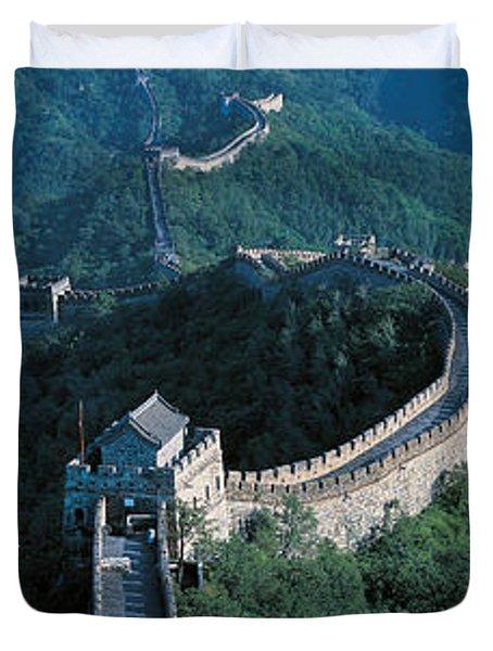 Great Wall Of China Beijing China Duvet Cover