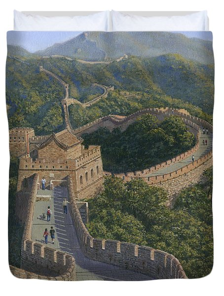 Great Wall Of China Mutianyu Section Duvet Cover by Richard Harpum