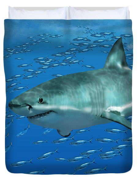 Great White Shark Duvet Cover