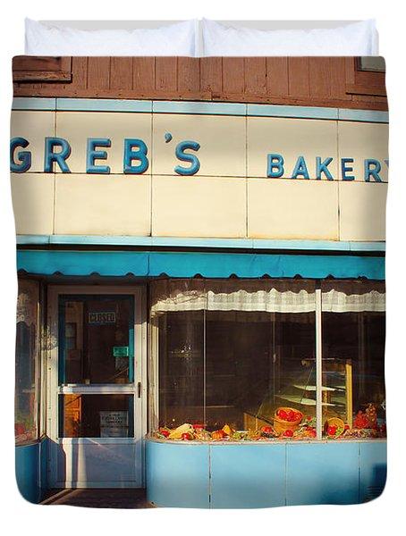 Greb's Bakery Pittsburgh Duvet Cover by Jim Zahniser