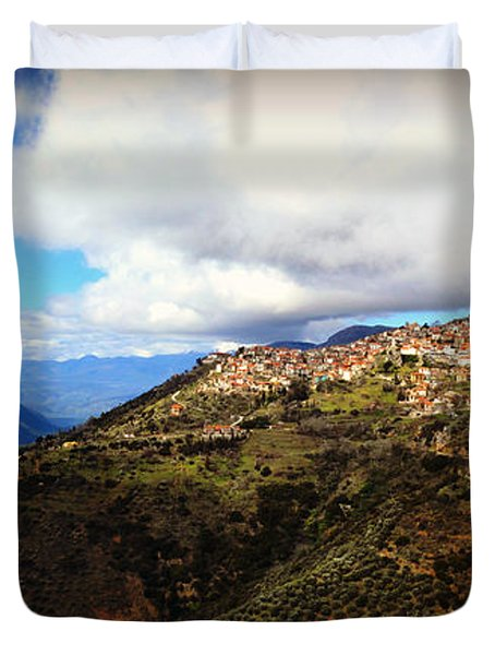 Greece Countryside Duvet Cover by Eric Liller