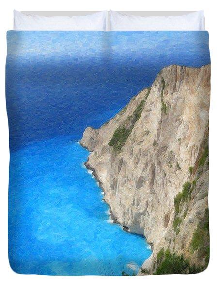 Greek Coast Grk4188 Duvet Cover