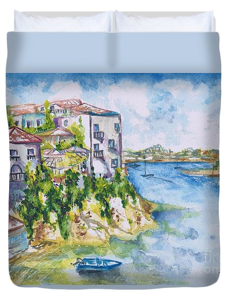 Greek Playground  Duvet Cover