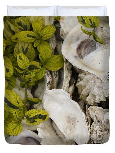 Green Abalone Duvet Cover