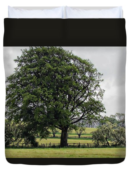Green And Pleasant Land Duvet Cover