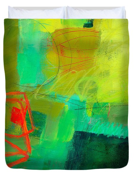 Green And Red #1 Duvet Cover by Jane Davies