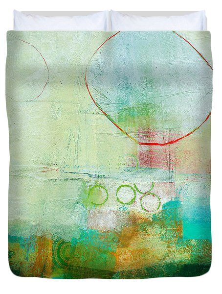 Green And Red 6 Duvet Cover by Jane Davies