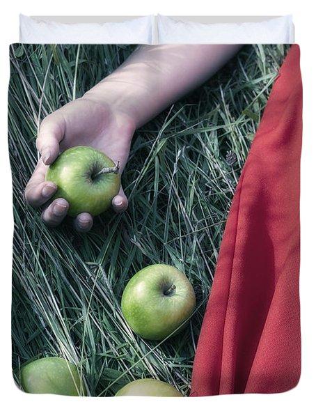 Green Apples Duvet Cover by Joana Kruse
