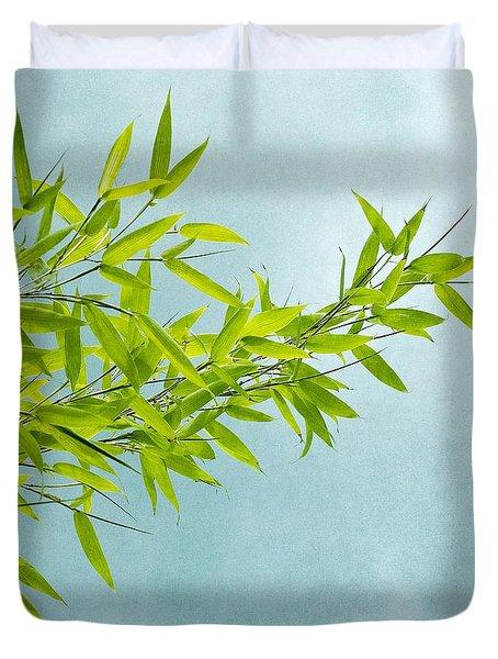 Green Bamboo Duvet Cover by Priska Wettstein