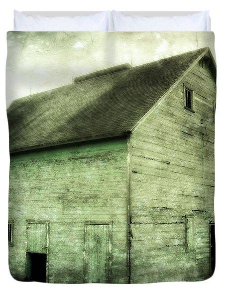 Green Barn Duvet Cover by Julie Hamilton