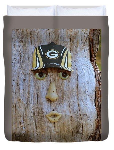 Green Bay Packer Humor Duvet Cover