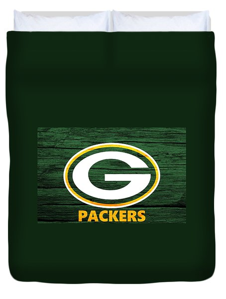 Green Bay Packers Barn Door Duvet Cover