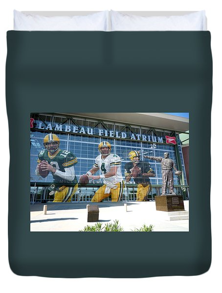 Green Bay Packers Lambeau Field Duvet Cover