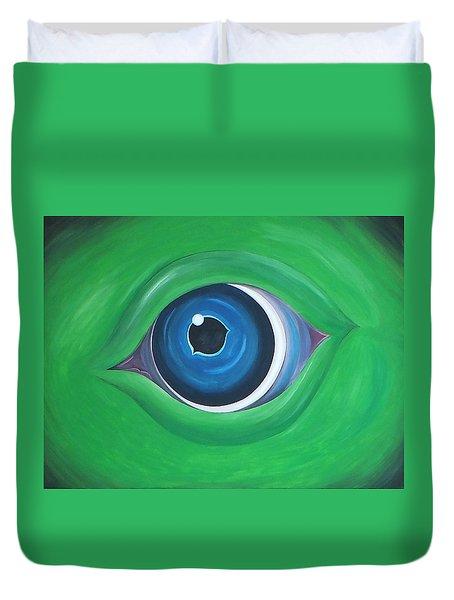 Green Beast Duvet Cover by Sven Fischer