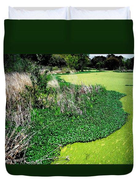 Green Belt Duvet Cover by Robin Lewis