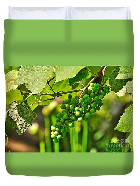 Green Berries Duvet Cover by Kaye Menner