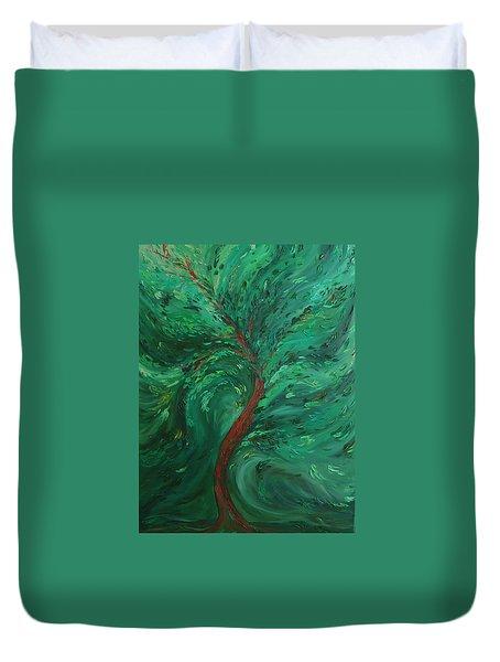 Green Bliss Duvet Cover by Felix Concepcion