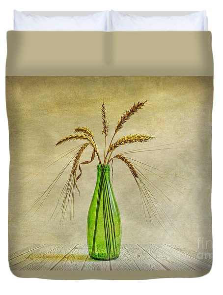 Green Bottle Duvet Cover by Veikko Suikkanen