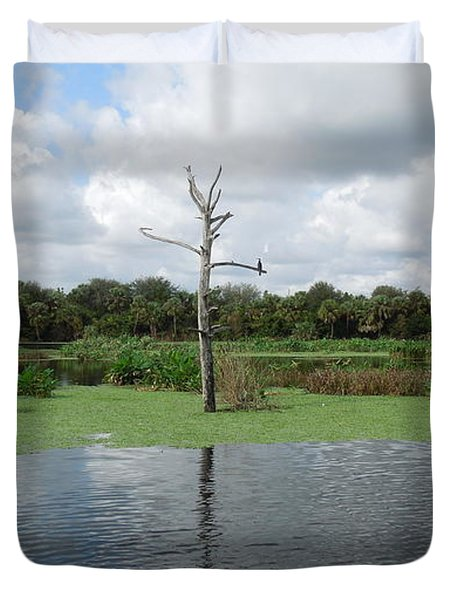 Duvet Cover featuring the photograph Green Cay Panorama by Ron Davidson
