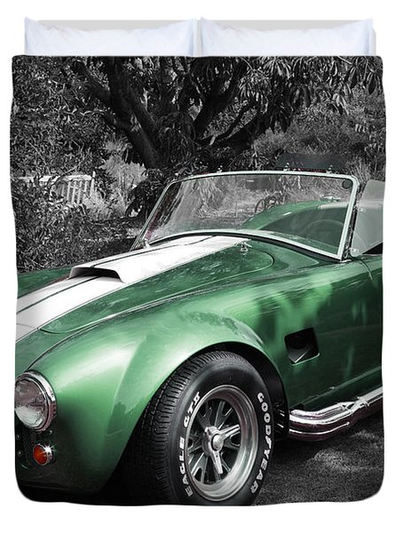 Green Cobra Duvet Cover
