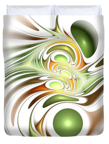 Green Creation Duvet Cover by Anastasiya Malakhova
