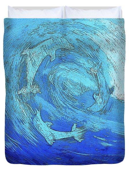 Green Dolphin Street Duvet Cover