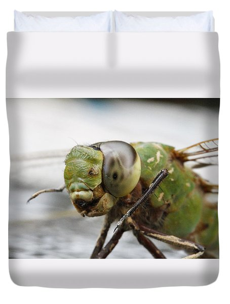 Green Dragon  Duvet Cover by Shoal Hollingsworth
