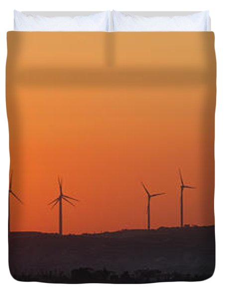 Green Energy Duvet Cover by Stelios Kleanthous
