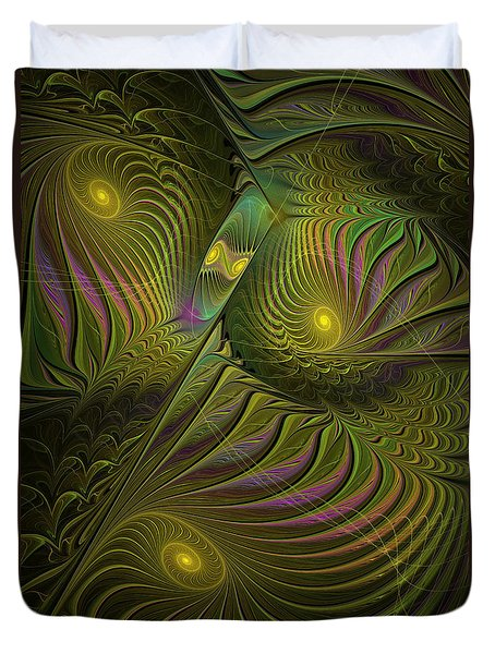 Green Envy Duvet Cover