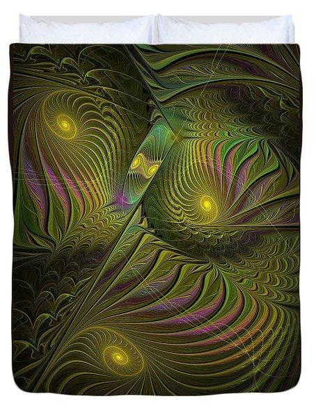 Green Envy Duvet Cover by Deborah Benoit