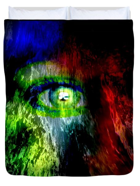 Green Eyed Duvet Cover by Tlynn Brentnall