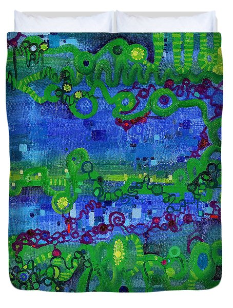Green Functions Duvet Cover by Regina Valluzzi