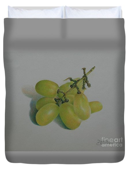 Green Grapes Duvet Cover by Pamela Clements