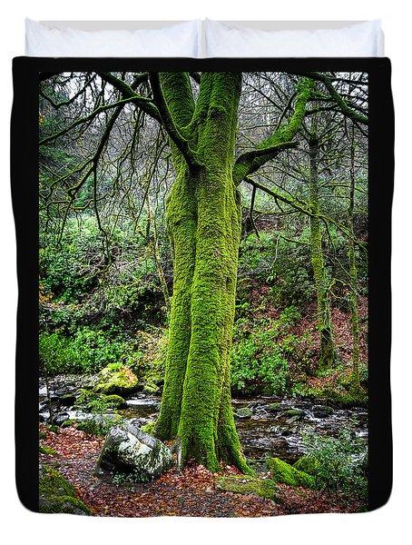 Green Green Moss Duvet Cover