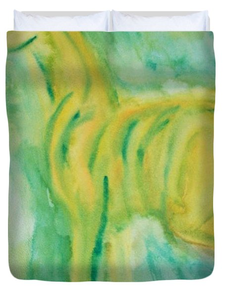 With Hope For A Green Future Duvet Cover