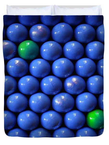 Green In Blue  Duvet Cover by Danuta Bennett