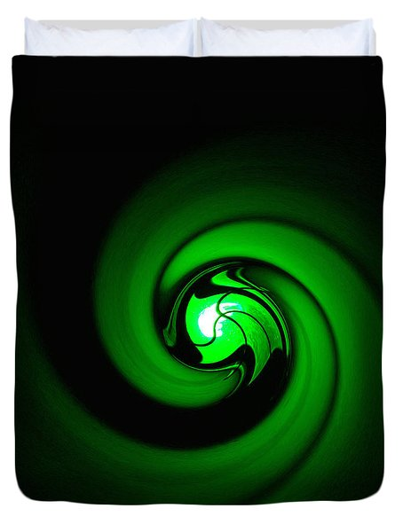 Green Lantern  Duvet Cover by Art Block Collections