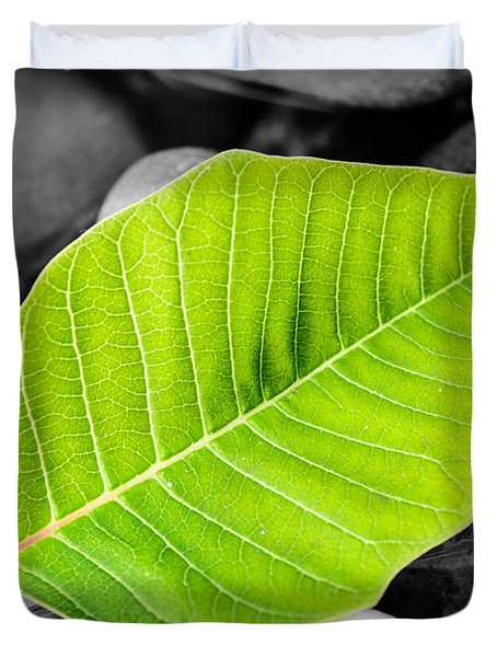 Green Leaf Duvet Cover