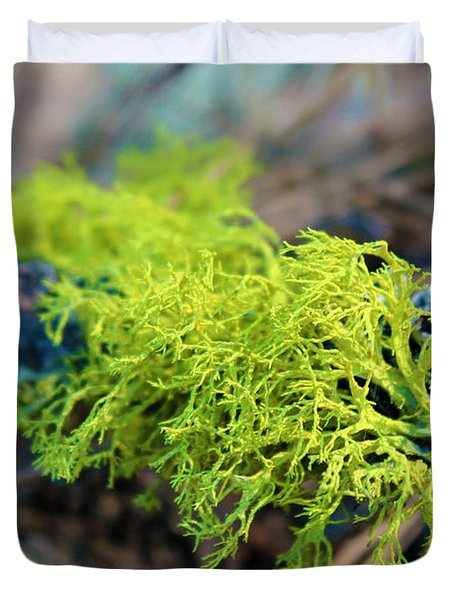 Green Lichen Duvet Cover