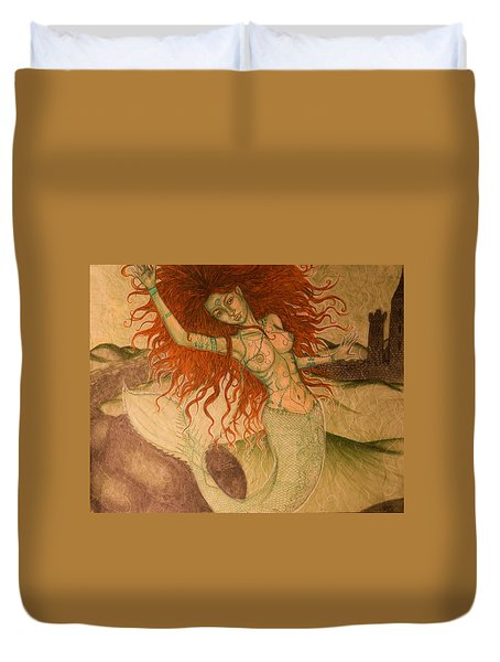 Green Moss Kingdom Duvet Cover